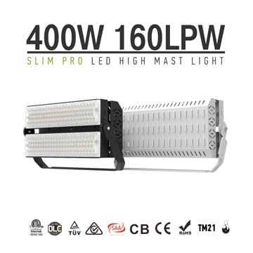 400W 480W LED Sports High Pole Light 175lm/w - Hockey Pitch,rugby field, Fencing Hall Lighting
