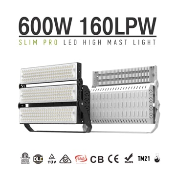 600W 720W LED High Mast Stadium Light, Tennis court, Volleyball, baseball field Lighting