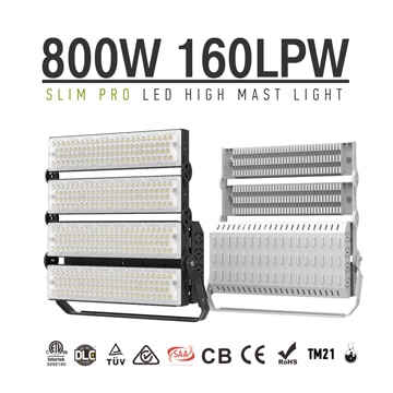 800W 960W Outdoor LED High Mast Lighting, Badminton Court, Baseball Field,Race Track Light