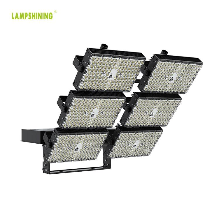 1800W LED Area Flood Light Fixtures - 100-277V 5000K 306,000lm Super Bright Outdoor 6 Modules Work Light