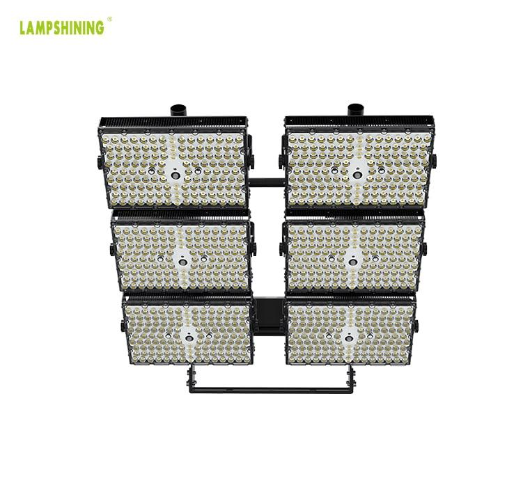 LED Stadium Light 1440W - Adjustable 6 Module Outdoor Waterproof Flood Light - 3000W Equivalent