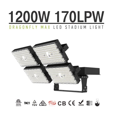 1200W LED Sports Light Fixtures - Arena, Sports, Stadium Flood Lighting