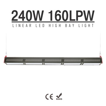 240W LED Linear High Bay Light 38400Lm TUV CE RoHS ETL DLC