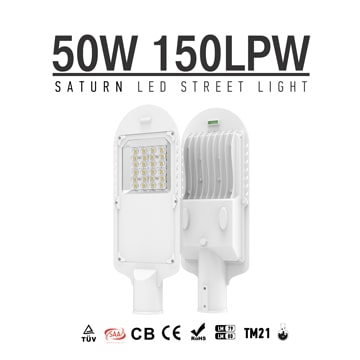 50w led street light with tempered glass, alley Village street light retrofit