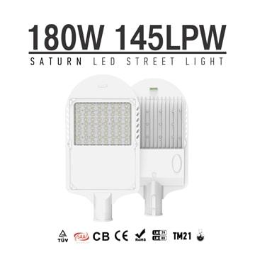 180W LED Street & Rural Roadway Lighting - 60mm Arm Smart Parking Lot Outdoor landscape LED Lights