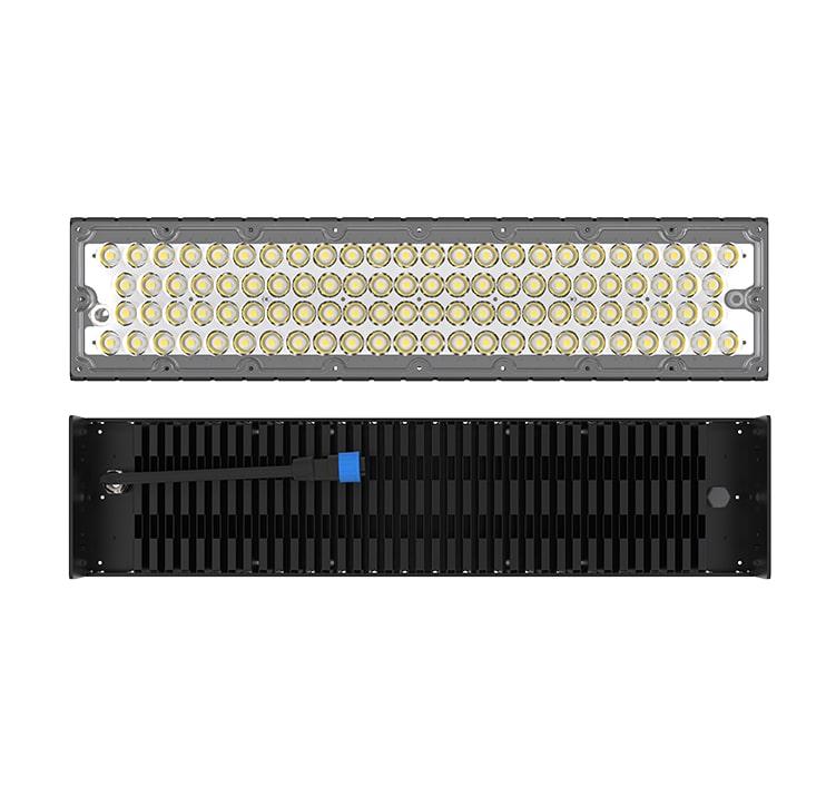 200W LED Fin Module Light, Waterproof Lumileds 5050 160Lm/W Area Light