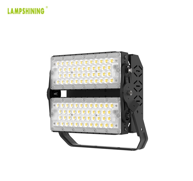 200W 35,000lm LED Flood Light - DLC TUV IP66 Black Bracket Rotatable 100-277V Uniformity Sport Light