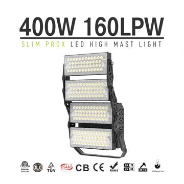 Slim ProX 400W 64000lm Outdoor 3 Module LED Flood Light 5700K daylight -  Replaces 1000W Metal Halide