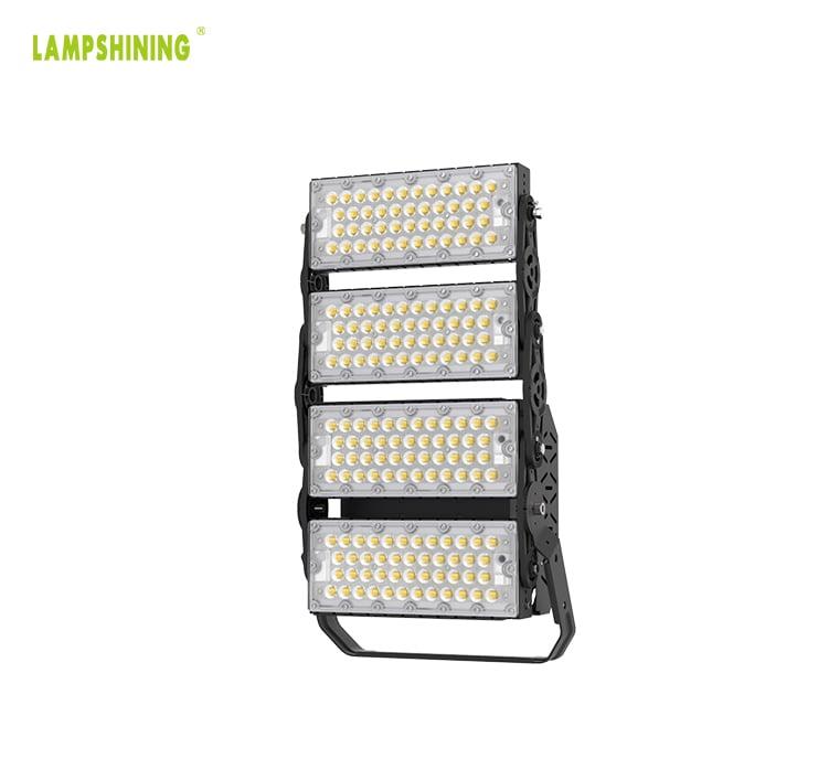 400W 64000lm Outdoor 3 Module LED Flood Light 5700K daylight -  Replaces 1000W Metal Halide