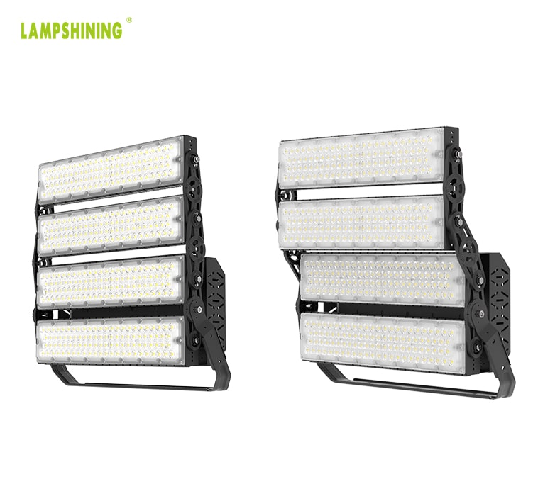 960W LED Sports Light Fixture - Yoke Mount Football, Squash, pickleball, Stadium Lighting