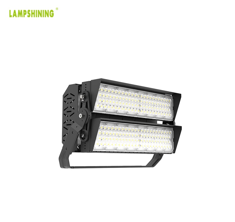 LED Sports Light, 480W 76800lm 100-277V Daylight DLC TUV Module Flood Lighting Wholesale