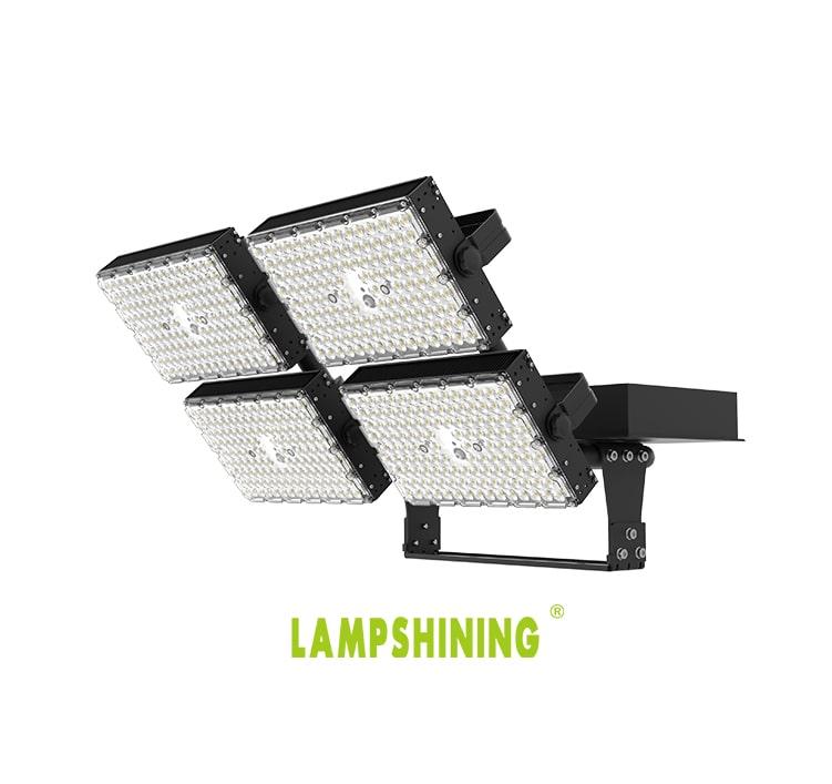 800W LED High Mast Light, 200Lm/W High uniformity Black Aluminum 4 Modules Waterproof Light