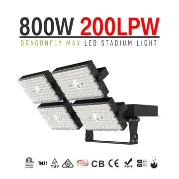 800W High Power High uniformity Dragonfly Max LED High Mast Light, TUV CB 160000lm Waterproof Area Lighting