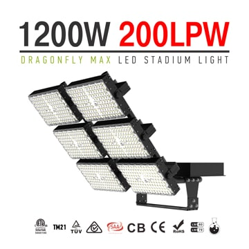 1200W 6 Module Rotatable Dragonfly Max LED High Pole Light