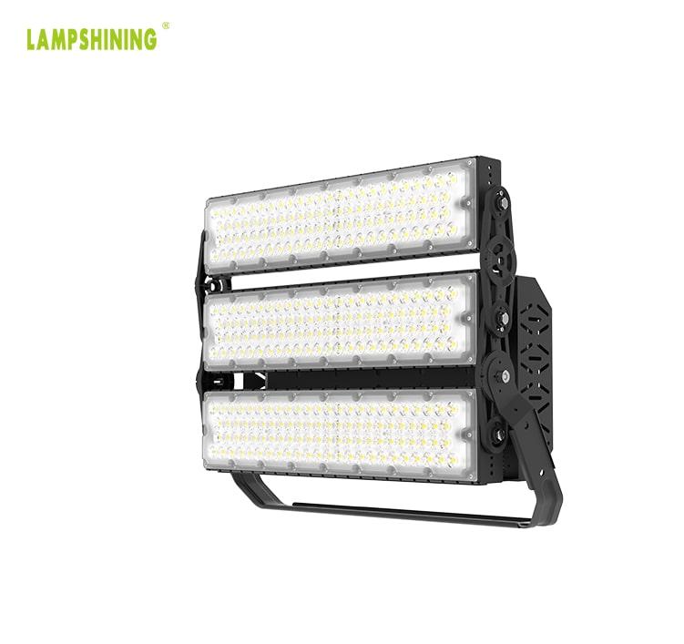 720W Outdoor High Uniform LED Lighting, Aluminum Waterproof and Lightning-proof Lightweight Pole Light