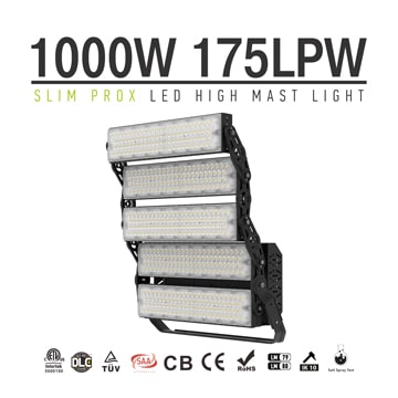1000W 160000lm Slim ProX LED High Pole Light - Public-Park, Handball, Rugby-Field, Skate-Park Light