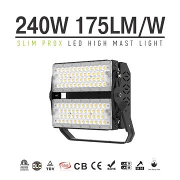 Slim ProX 240W IP66 LED Modular Flood Light - 100-277V 42,000lm High uniformity LED Lighting