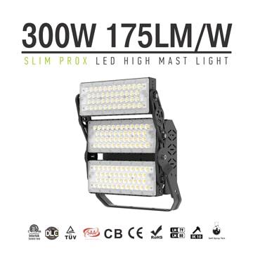 Slim ProX 300W 52,500lm LED Flood Sports Light - Tennis court, volleyball, basketball pitch Lighting fixture