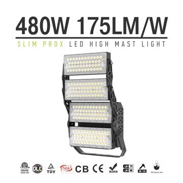 480W Slim ProX LED High Mast Area Light - 74400lm 4 module Rotatable High uniformity Waterproof Lighting Fixture