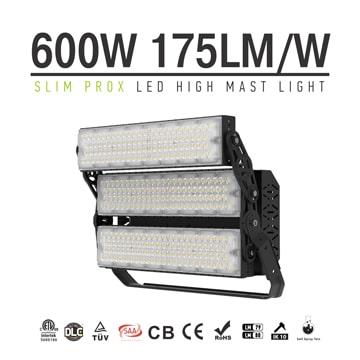 600W Slim ProX Rotatable Module Bracket LED Sports High Mast Light Fixture