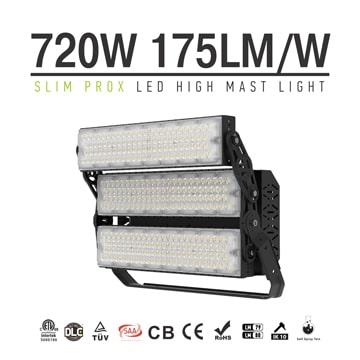 Slim ProX 720W Outdoor High Uniform LED Lighting, Aluminum Waterproof and Lightning-proof Lightweight Pole Light