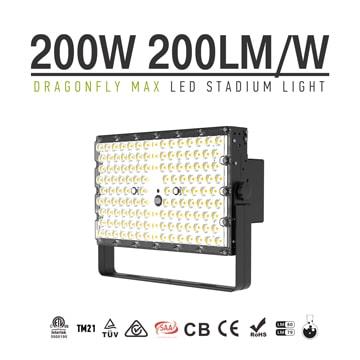 Dragonfly Max LED High Mast Light - 200W High light efficiency 200Lm/W Lightweight Outdoor Lighting Fixture
