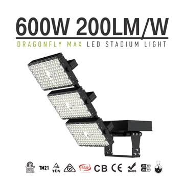 600W 120000lm Dragonfly Max LED Area High Mast Light - Outdoor Construction sites, Airports, Docks, Shipyards Light