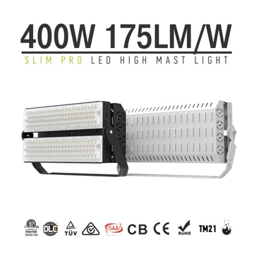 400W 480W LED Sports Light, 100-277vac, CRI80, IP66, Dimmable Wall, Ground, Pole Installation Flood Light