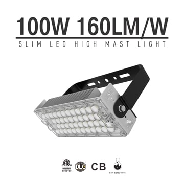 100W LED High Mast Light,Rotatable Module,160Lm/W,16000 Lumen,IP65,Stadium Light,Sports Lighting,Flood Lighting
