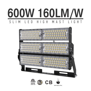 600W-B LED High Mast Light,Rotatable Module,160Lm/W,96,000 Lumen,IP65,Stadium Light,Sports Lighting,Flood Lighting
