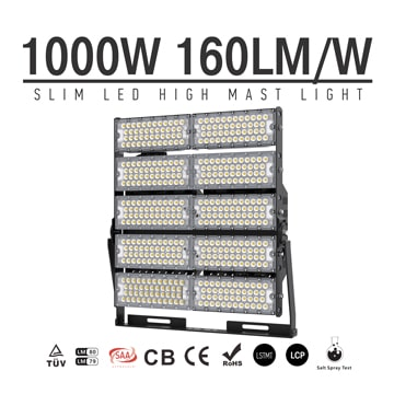 1000W TUV CE Area, Large Square, Airport LED High Mast Light, 160000 Lumens