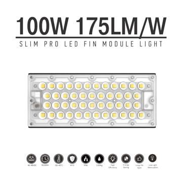100W LED Fin Module Light, Waterproof Lumileds 5050 175Lm/W Area Light