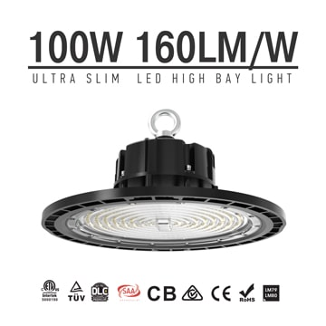 100w Ultra Slim UFO LED high bay lighting, daylight 4000-5700K Shops, warehouses, barns, museums lighting