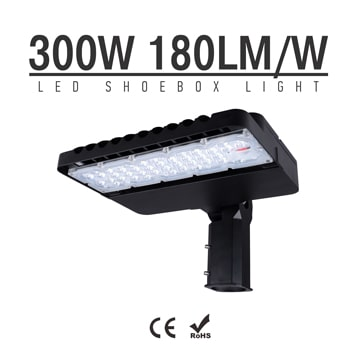 300W CE RoHS LED Stadium Light Fixtures 180Lm/W 54000Lm