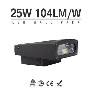 25W Full Cut-off LED Wall Pack Lights,100Lm/W,2,500 Lumens,IP65 waterproof