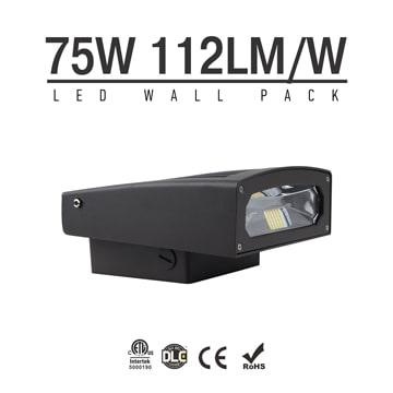 75W Full Cut-off LED Wall Pack Lights,7,700 Lumens,IP65 waterproof