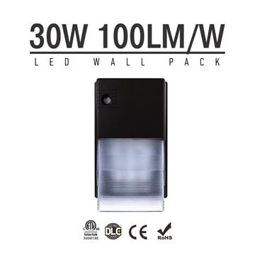 30W Semi Cut-off LED Wall Pack Lights,,3,000 Lumens,IP65 waterproof