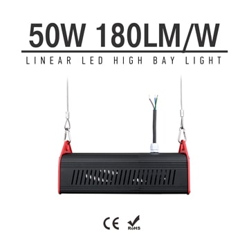 50W LED Linear High Bay Light 9000Lm CE RoHS