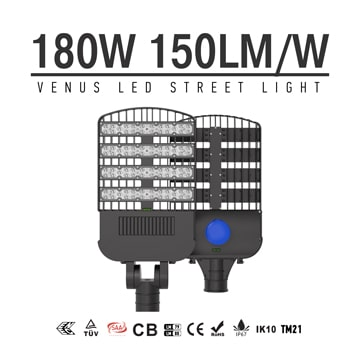 High Power 180w IP67 150Lm/W LED Street Light 100-277V, ENEC, TUV, CB LED Roadway Lighting