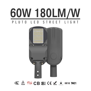 60 watt LED Street Light Fixtures, High efficient 10800LM 5000K IP66 road Lights