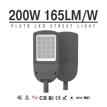Aluminium 200 Watt LED Street Light 33000LM - Commercial Outdoor 100-277VAC Security  Lighting