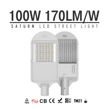100W LED Street Light with Tempered glass, 100-240VAC Type2m Type3m beam angle