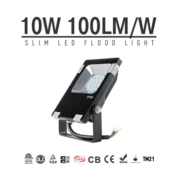 10W LED Flood Light Fixtures 1300Lm Waterproof CE RoHS SAA Ctick