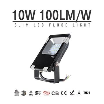 10W LED Flood Light Fixtures 1300Lm Waterproof CE RoHS SAA Ctick