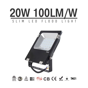 20W LED Flood Light Fixtures 2600Lm Waterproof CE RoHS SAA Ctick