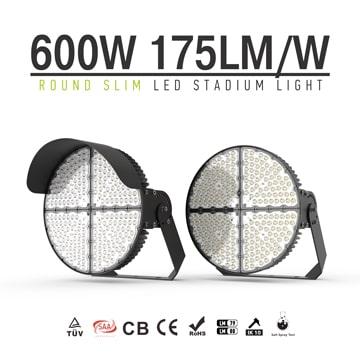 LED Sports Light 600W, Stadium Sports Lighting Fixtures, 105,000Lumens, TUV, SAA, ROHS