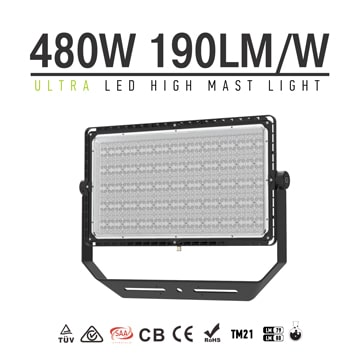 480W 190Lm/W Energy-saving LED Sport Light | Flood Light, High Pole Area Lighting