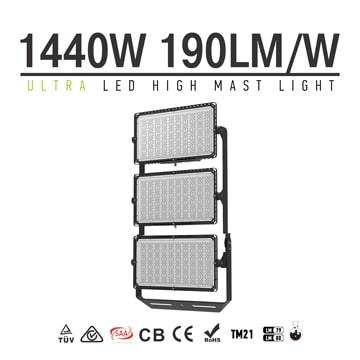 1440W 190Lm/W LED High Mast Light, Outdoor High Mast Roadway, Stadium, Cranes Lighting
