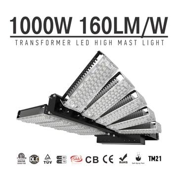1000w LED Flood Light, Lightweight Stadium LED High Mast floodlights, Rotatable Module Stadium Lights, Flood Lighting