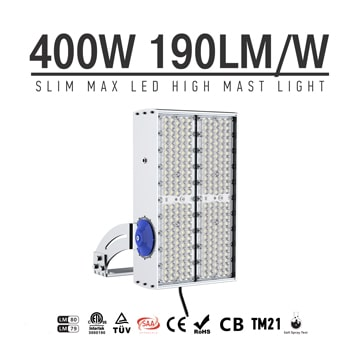 400W 480W 600W Module Flood LED Light, Grey Fin Anticorrosive Natatorium, Outdoor Recreation Luminaires